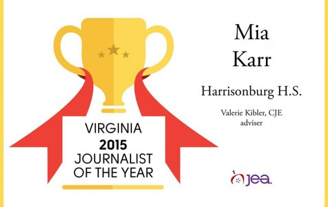 Harrisonburg High School's Mia Karr named Virginia Journalist of the Year