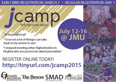 Register for jCamp! July 15-19, 2018 at JMU