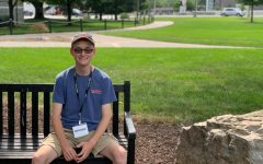 Wayland explores the JMU campus while attending jCamp. -Abby Garber