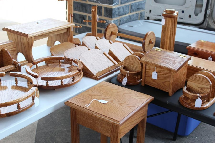 A look into the variety of products Jim Dellinger crafts and sells at Harrisonburgs Farmers Market.