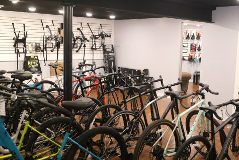 The main inventory of bikes held upstairs.