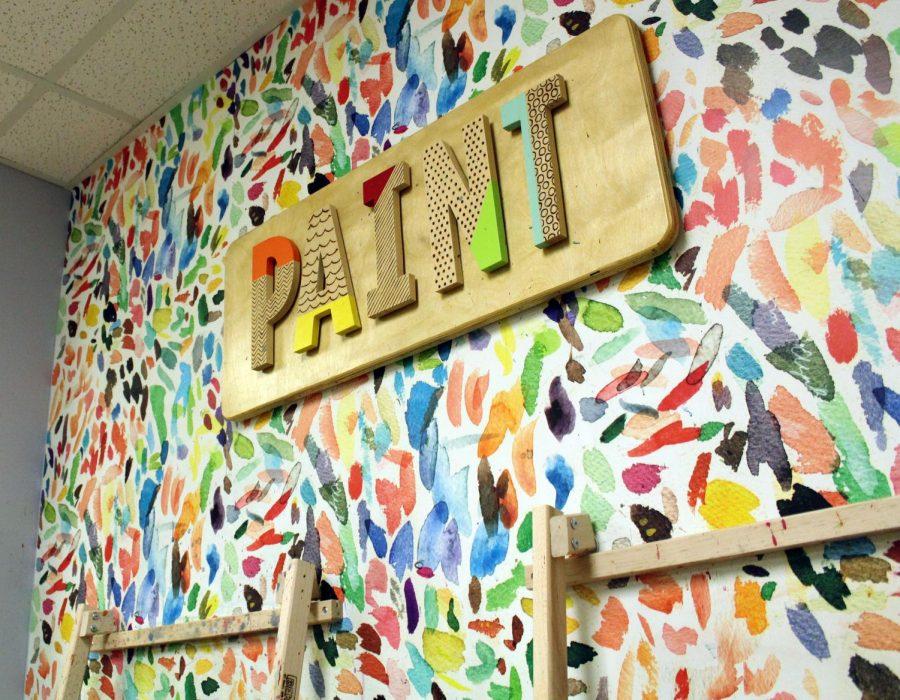 kids paint station